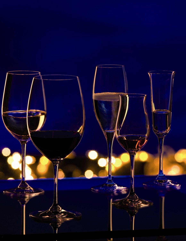 Riedel Vinum Leaded Crystal Bordeaux / Cabernet Wine Glass, Set of 4