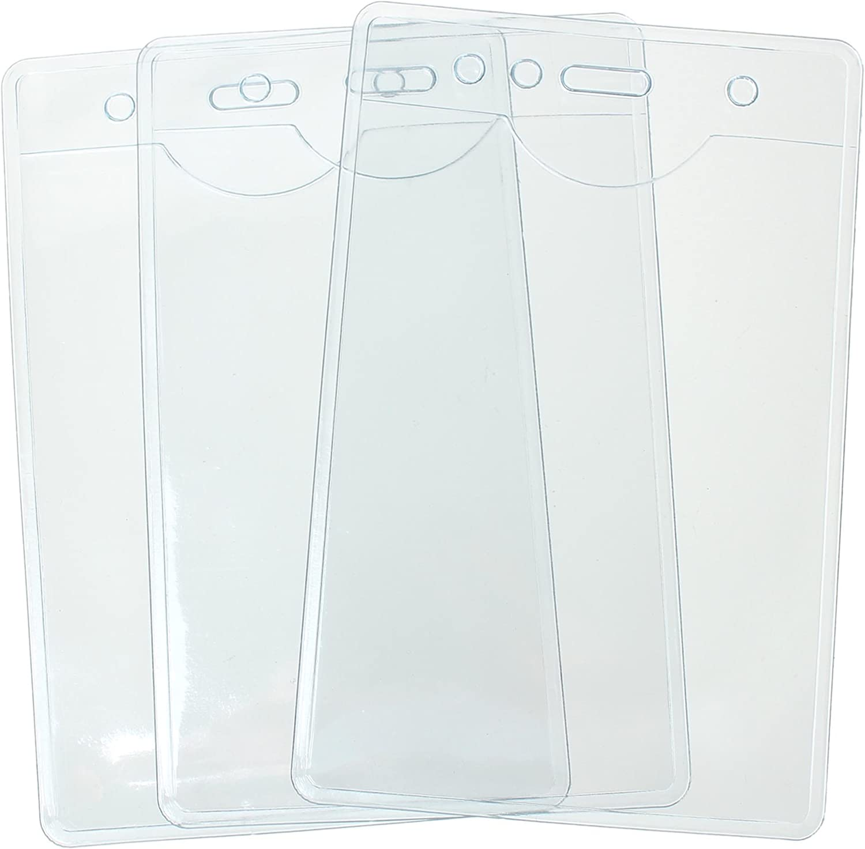 /contiene 22/x 16.6/cm Confezione di 50/vinile A5/plastica ID card badge targhetta nome supporti di cordini Tomorrow ritratto Dimensioni 25/x 17/cm/ extra large in PVC trasparente tasche ID maniche tasche A
