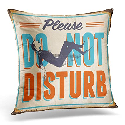 Amazon UPOOS Throw Pillow Cover Retro Vintage Metal Sign Please Mesmerizing Cleaning Decorative Pillows