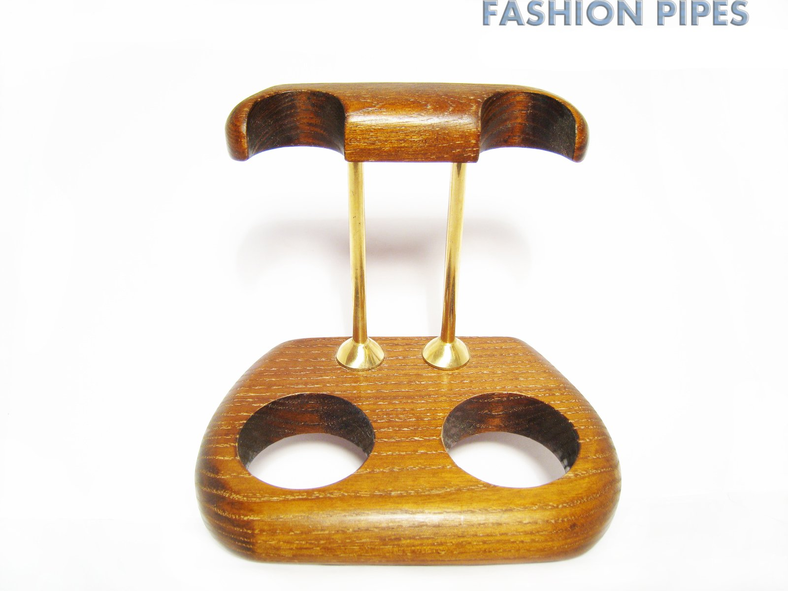 New Wooden Pipe Stand Rack Holder for 2 Tobacco Pipe - Smoking Pipe. Handcrafted (2)