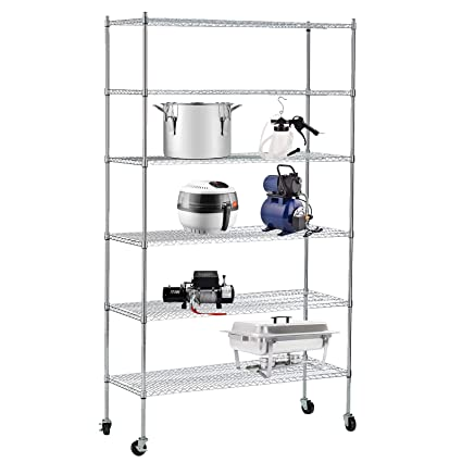 Amazon Com Suncoo 6 Tier Wire Shelves Unit With Stiffeners