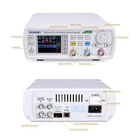 Funktionsgeber Kuman New Upgraded 60MHz DDS-Signal Generator Counter ...