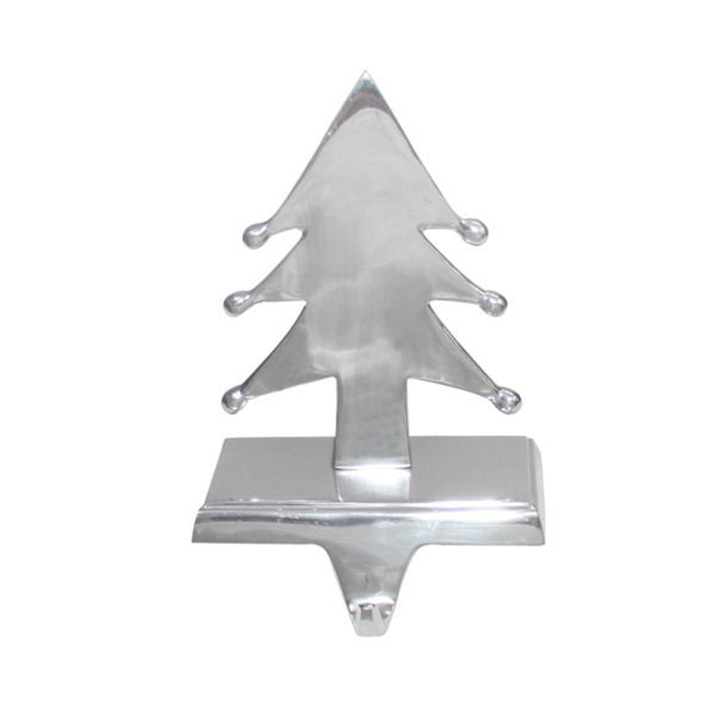 Insideretail Christmas Tree Stocking Holder (Set of 2), Silver