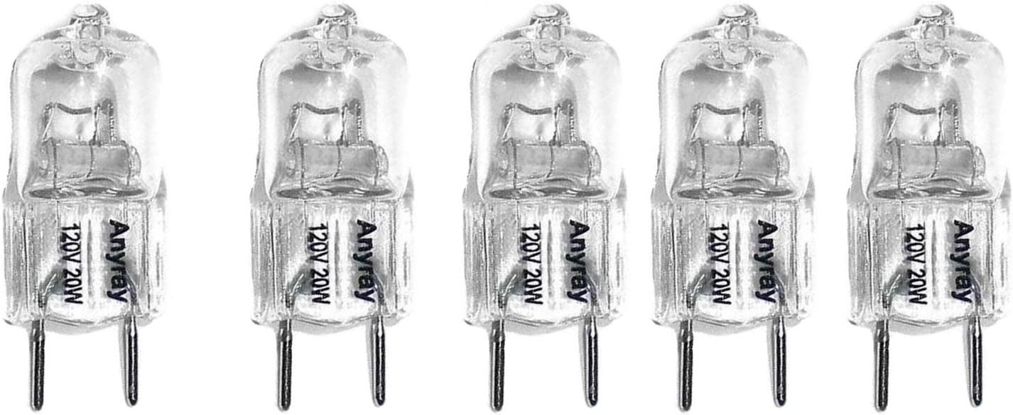 (5)-Bulbs Anyray Replacement Fits to Maytag Microwave hood range MMV5207BWC 120V 20W