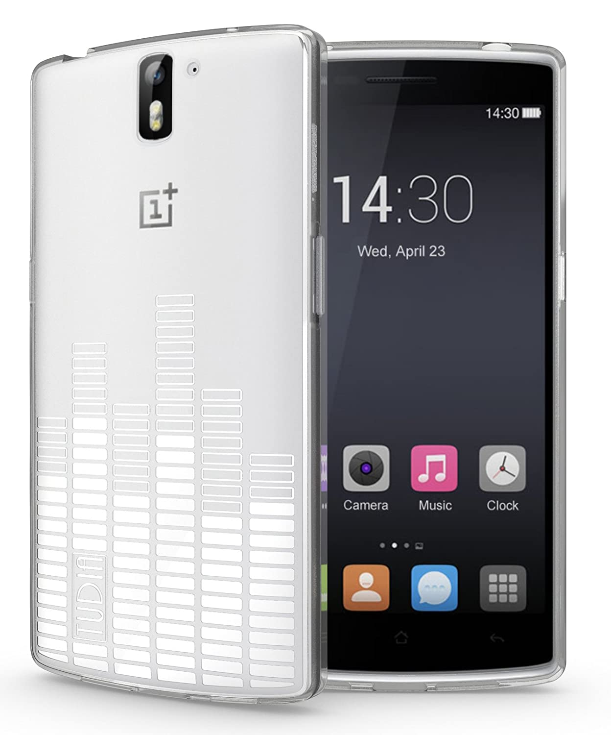 wholesale dealer e4f7e 41ea1 TUDIA Clef TPU Bumper Protective Case for OnePlus One Smartphone (Frosted  Clear)