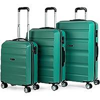ITACA - Juego de Maletas de Viaje Rígidas 4 Ruedas Lisas Trolley 55/67/77 cm ABS. Prácticas y Ligeras. Pequeña Cabina…
