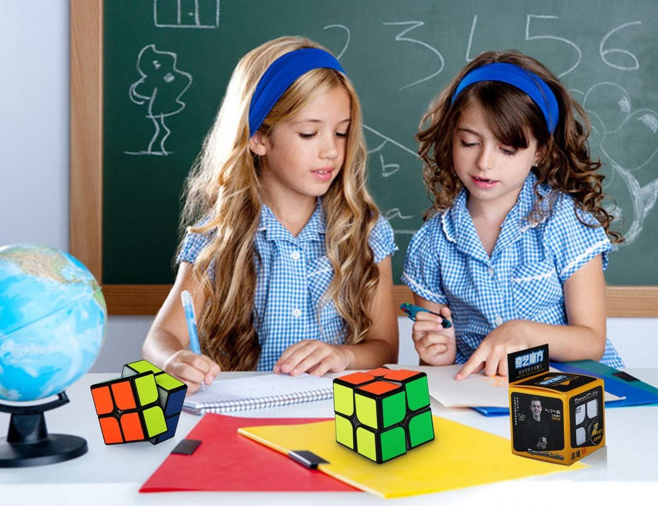 Pegatinas de PVC Cubo Magico 2x2 2x2x2 Speed Cube Puzzle Cubo de la Velocidad Ni/ños Juguetes Educativos