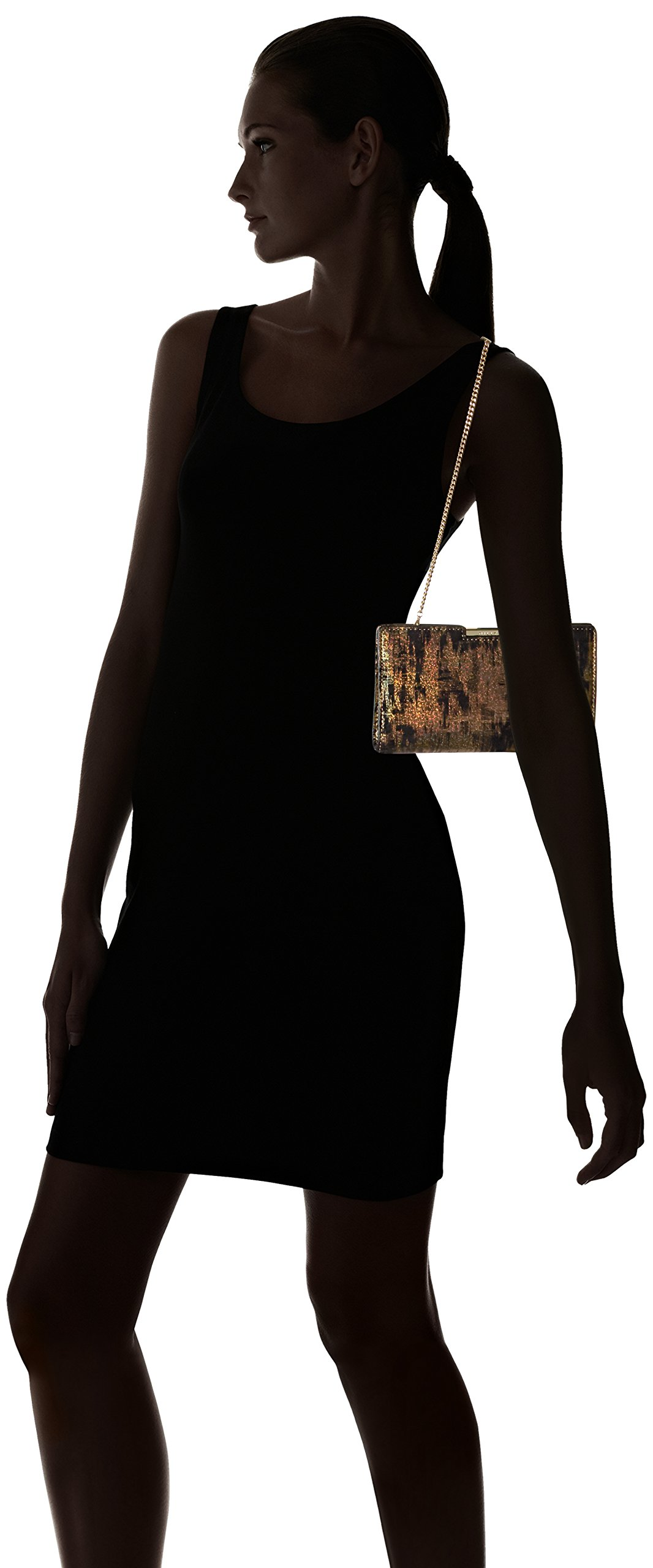 MILLY Brustroke Small Frame Clutch, Gold by MILLY