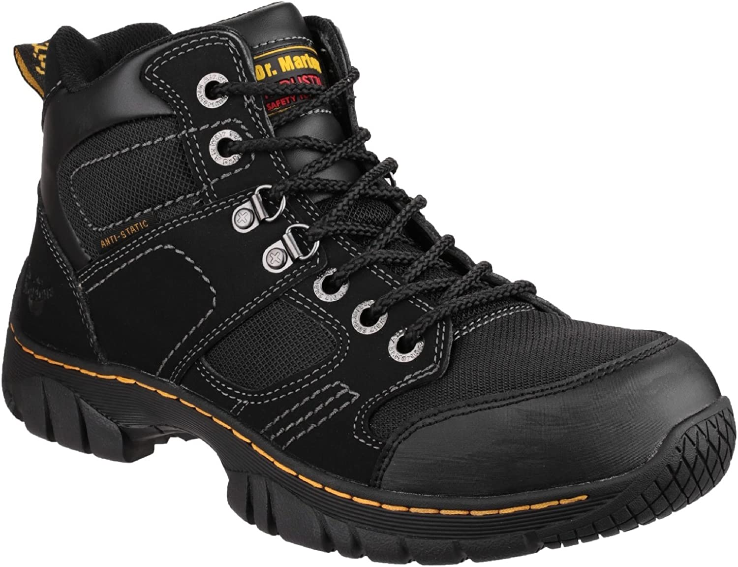 Dr Martens Benham Safety Boots Mens Lightweight Hiker Steel Toe Cap Work Shoes