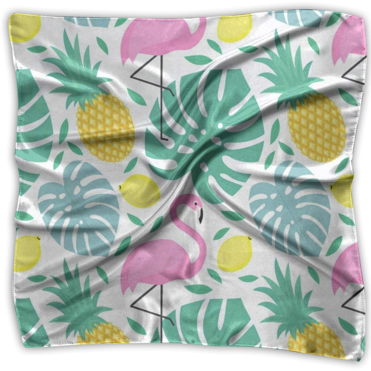 Square Scarf Plam Leaves Flamingo And Pineapple Head /& Neck Unisex Neck Head Tie For Man