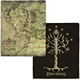 Warner Bros. The Lord of the Rings Middle-earth Map and Tree of Gondor Fleece Throw Blanket