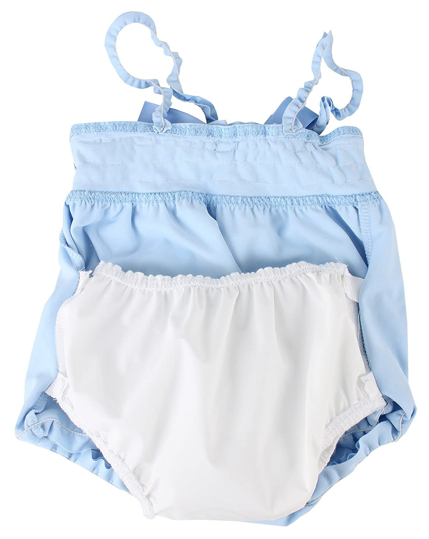 6-12 Monate Puuper Badeanzug Paulina mit Schwimmwindel blau