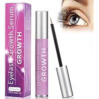 Eyelash Growth Serum, Eyelash Growth Enhancer and Eyebrow Serum for Long, Luscious Lashes and Eyebrows, Eyelash Serum by WONTECHMI (5 ml)