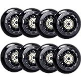 TOBWOLF Inline Skate Wheels, Indoor/Outdoor Roller Skate Wheels, Roller Blade Skating Wheels Replacement with ABEC-7…