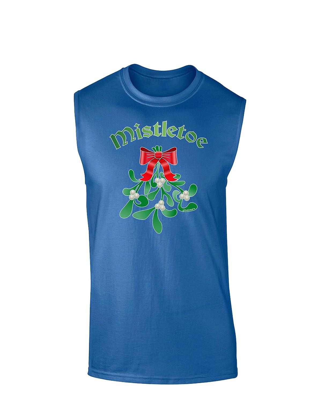 TooLoud Christmas Kiss Mistletoe Dark Muscle Shirt