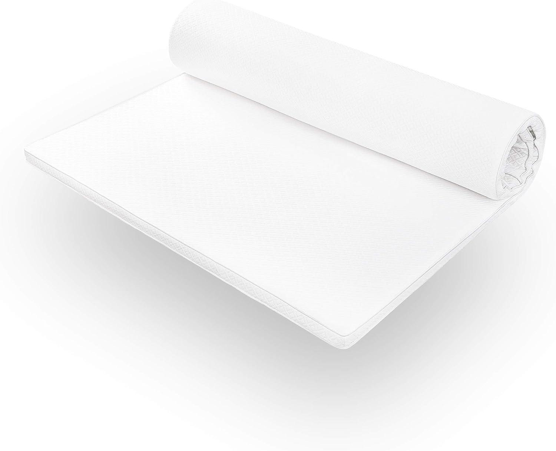 3,5 cm Lumaland Topper surmatelas orthop/édique Mousse /à m/émoire Confort 90 x 200 cm