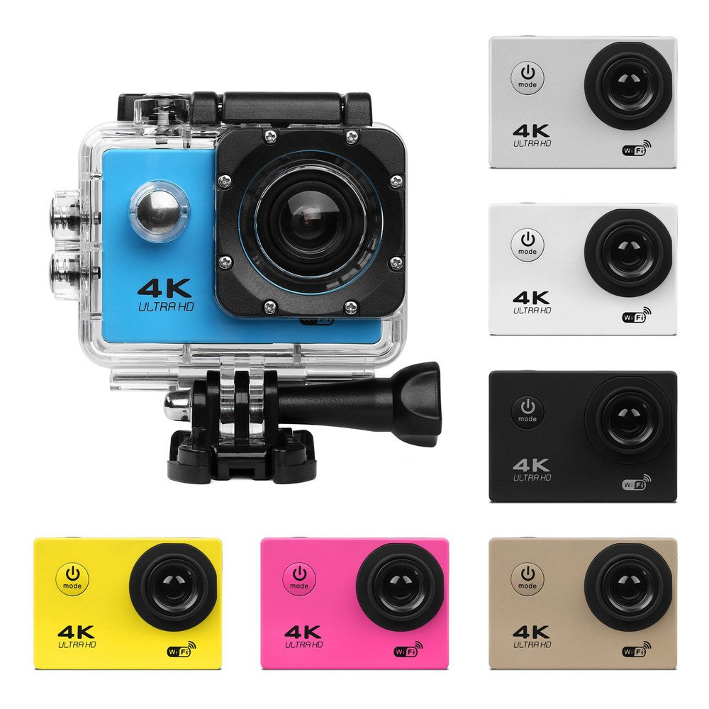 Excellent.advanced SJ9000 Action Camera Underwater Cam Ultra HD 4K WiFi Waterproof Sports Cam 170 Degree Ultra Wide Angle Lens(Black) by Excellent.advanced