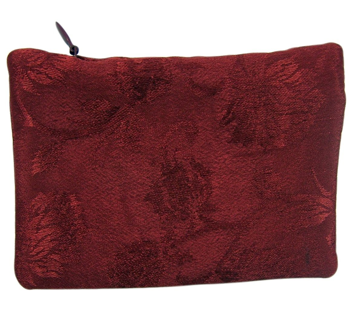 Red Satin Embroidered Come Holy Spirit Confirmation Rosary Case 4 Inch
