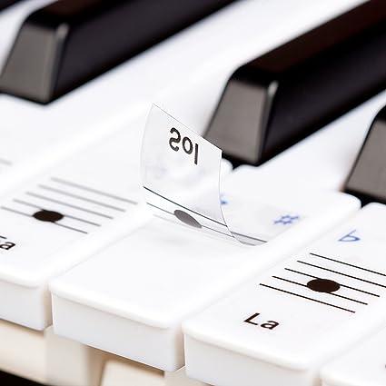 Pegatinas Keysies para notas musicales, transparentes, de plástico y despegables – Más guía útil
