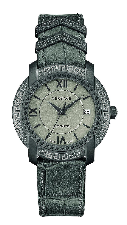 [ヴェルサーチ]Versace 腕時計 'DV25' Swiss Automatic Stainless Steel and Leather Casual V13010016 メンズ [並行輸入品] B077C7WFHL