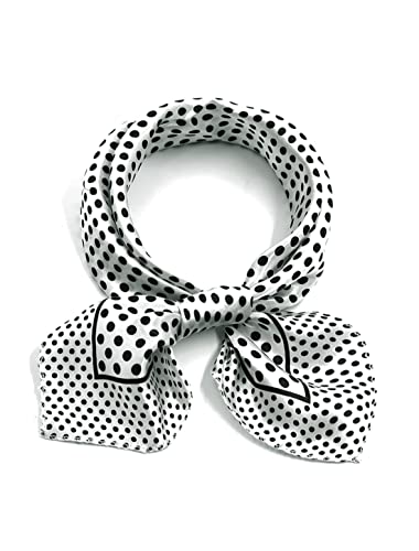 """Sourcingmap–® mujeres impreso, forma cuadrada pañuelo 20""""contraste Color Casual cuello blanco b..."""