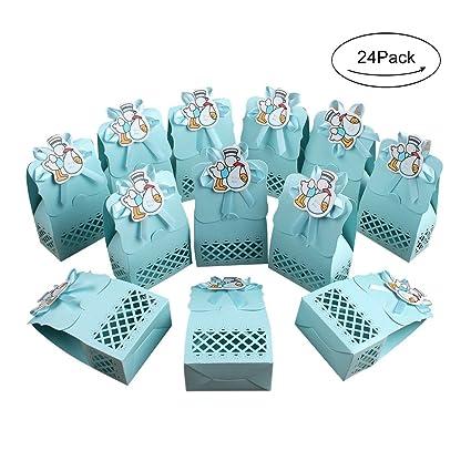 Amazon Com Aerwo 24pcs It S A Boy Baby Shower Treats Boxes