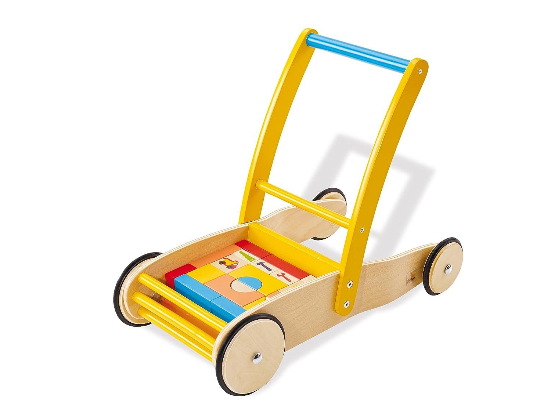 Lauflernwagen mit Bausteinen - Pinolino Lauflernwagen Bodo mit Bauklötzen