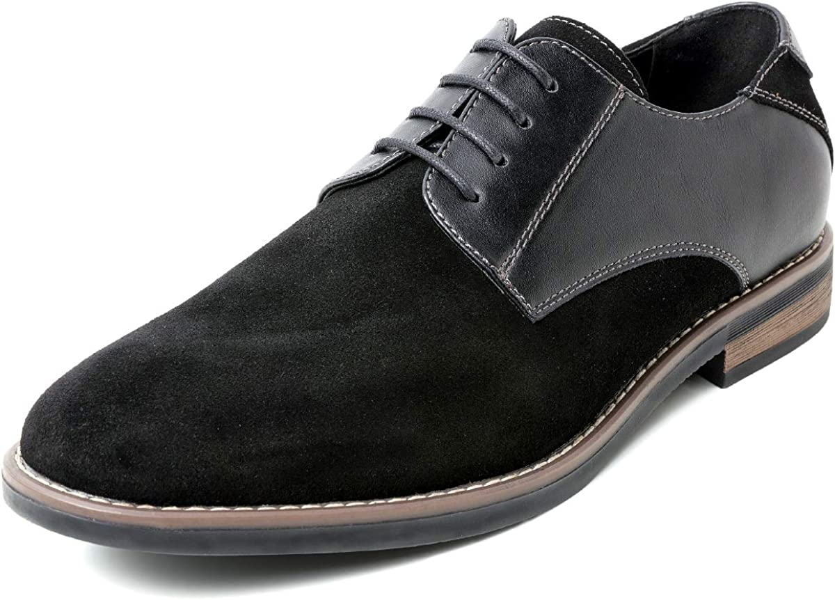 YLY Mens Oxfords Pointed Toe Flat Heel Soft PU Leather Lace up Business Casual Shoes Dress Shoes