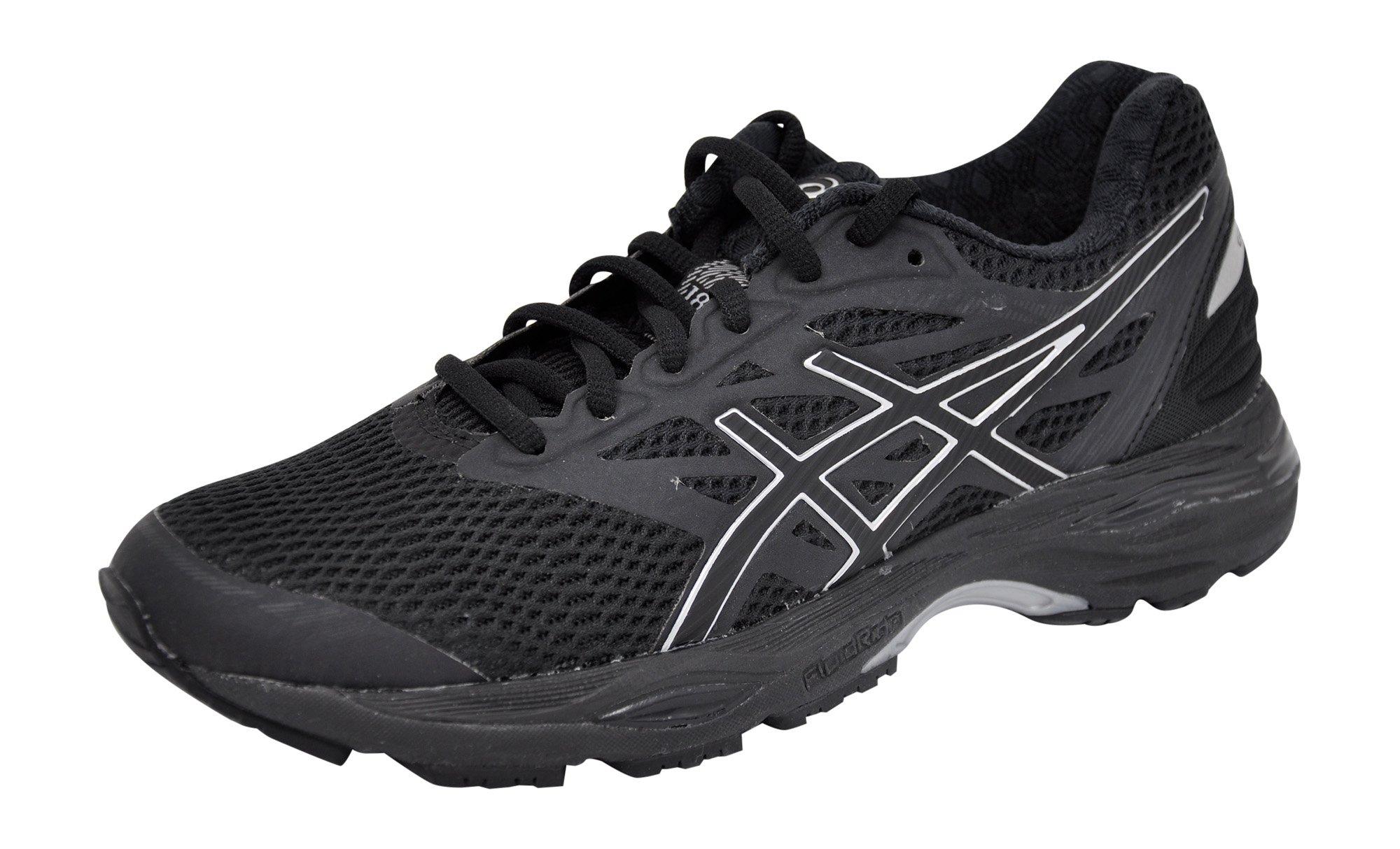 ASICS Women's Gel-Cumulus 18 Running Shoe (8.5 B(M) US, Black/Silver/Black) by ASICS