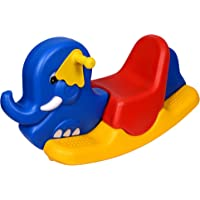 Her Home Playgro Rocker for Kids - Plastic Elephant Ride-on Toy - for Indoors and Outdoors - for Boys and Girls ( Colour May Vary)