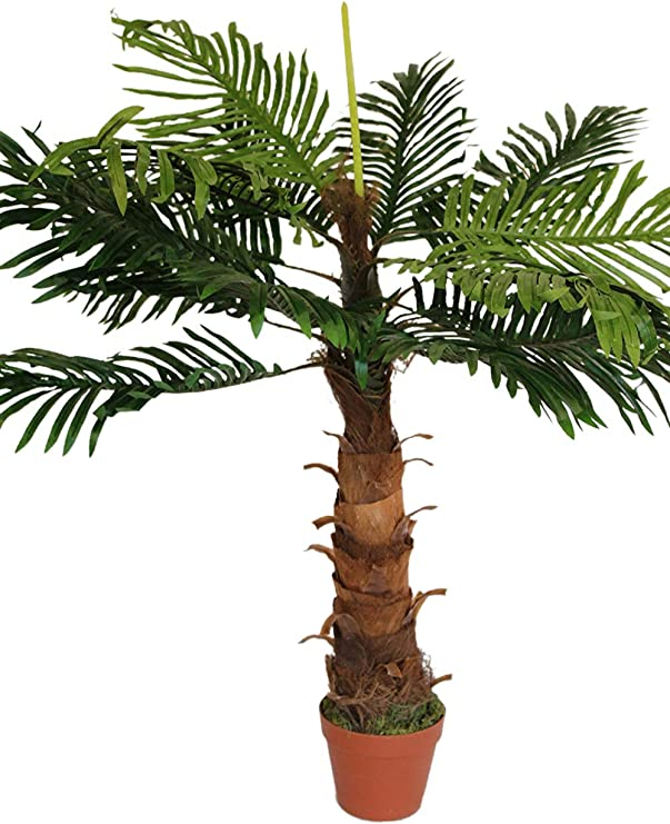 Artificial Plants Artificial Coco Palm Tree 1m Tall With Pot Amazon Co Uk Kitchen Home