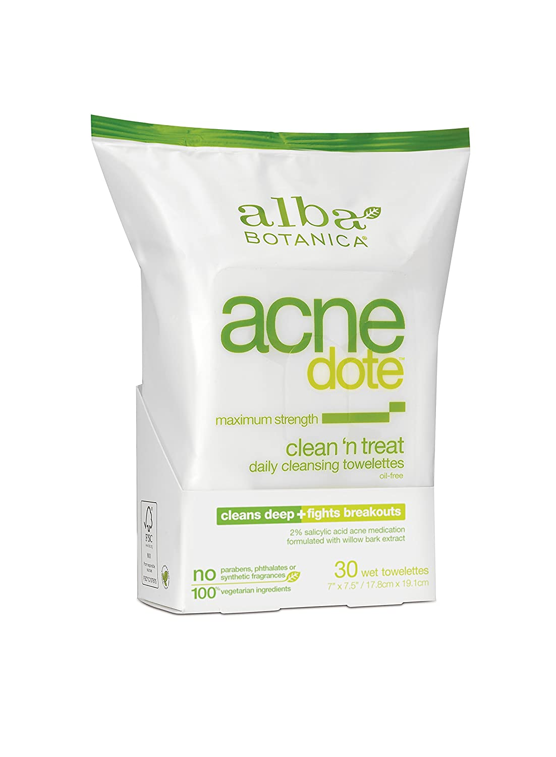 Alba Botanica - Natural ACNEdote Clean n Treat Towelettes(pack of 6) 3W Clinic Excellent White Cream (intensive Whitening) For Dry To Normal Skin Types 50g/1.7oz