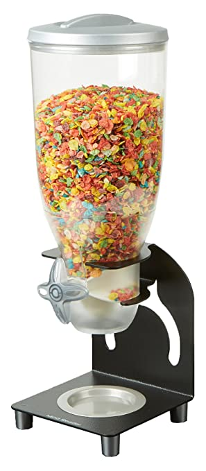 Mind Reader kell200-blk Metal dispensador de cereales, color negro