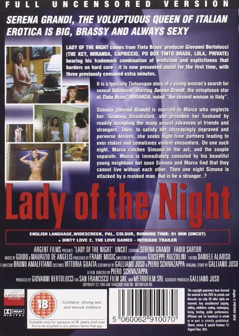Lady of the Night [DVD] [1997] [Reino Unido]: Amazon.es: Serena Grandi, Fabio Sartor, Piero Schivazappa: Cine y Series TV