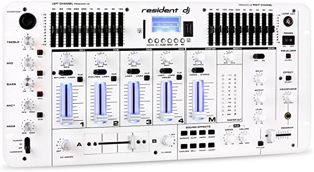 resident dj Kemistry 3WH mesa de mezclas de 4 canales (con ...