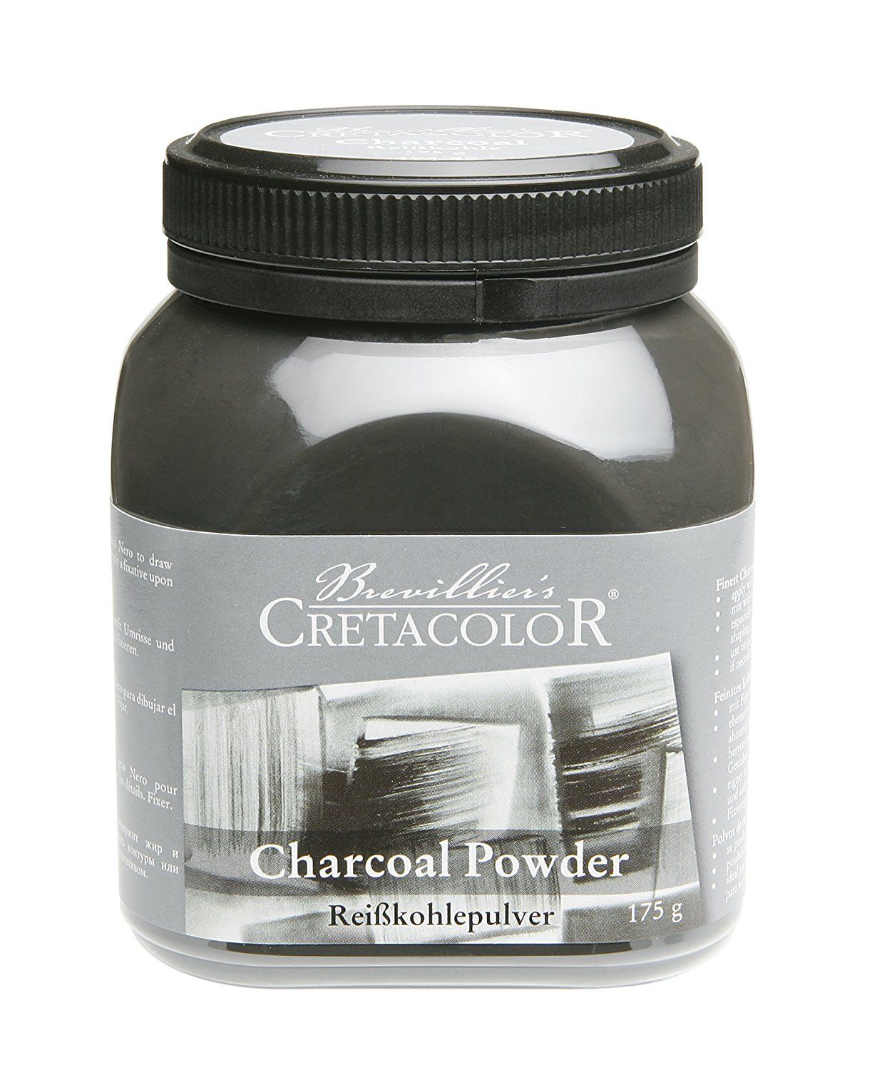 Cretacolor Charcoal Powder 175g Jar Tottenzo 494 80