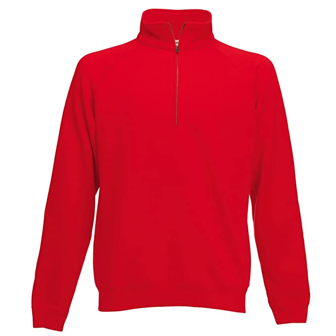Fruit of the Loom Mens Zip Neck Sweatshirt at Amazon Mens Clothing store: