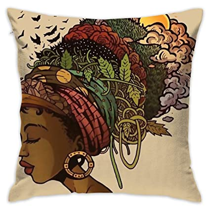 Image Unavailable. Image not available for. Color  African Women Home Decor  Throw Pillow ... c7f6e50502