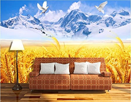 LWCX Custom Mural 3D Photo Wallpaper Catcher Snow Mountain Home ...