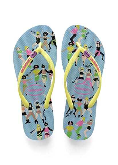 3cb02dd256e8 Havaianas Women s Slim Cool Flip Flops  Amazon.co.uk  Shoes   Bags