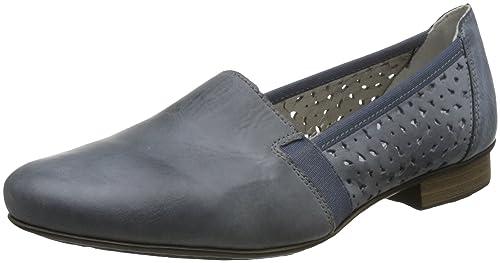 Rieker Mujeres Zapatos llanos azul, (azur/azur) 51995-12: Amazon.es: Zapatos y complementos