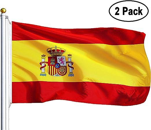 Amison Bandera España Grande, 2pcs Bandera de España, Resistente a ...