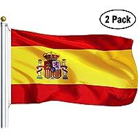 Amison Bandera España Grande, 2pcs Bandera de España