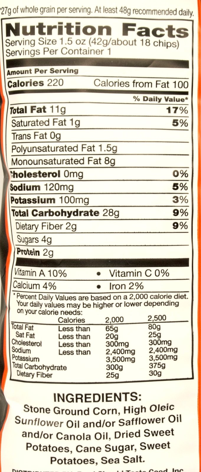 Food Should Taste Good Sweet Potato Tortilla Chips, 1.5 oz (Pack of 8) by Food Should Taste Good, Inc