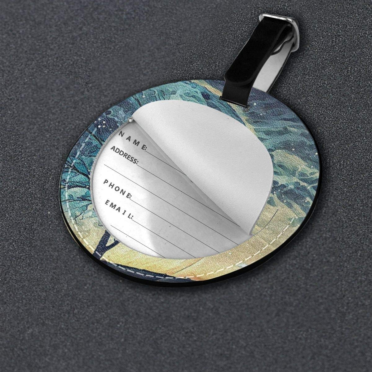 Luggage Tags Fantasy Tree House Travel Accessories Baggage Name Tags