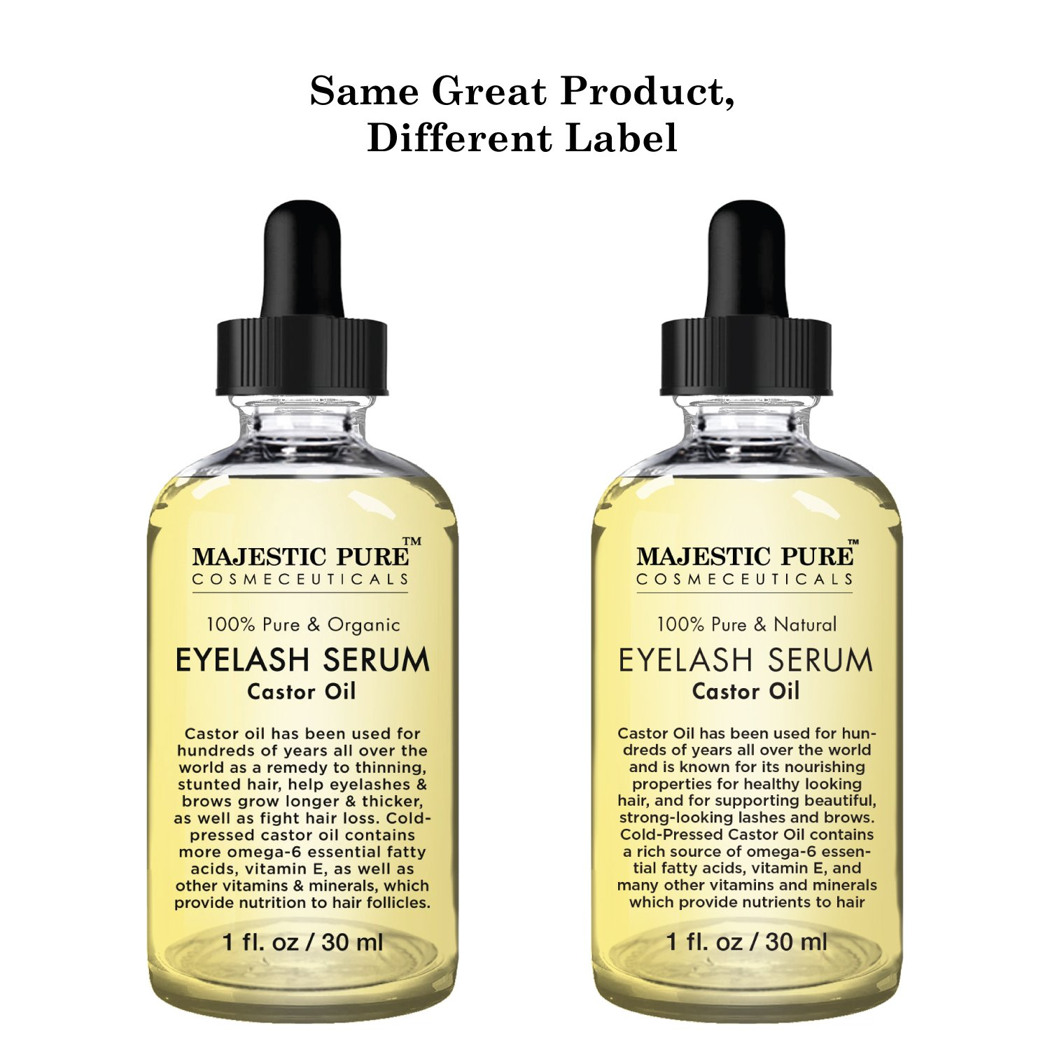 Amazon Majestic Pure Castor Oil Eyelash Serum Pure And Natural
