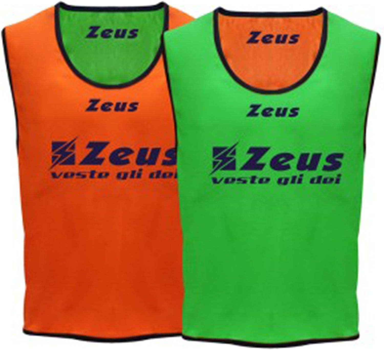 Casacca Promo Zeus Corsa Sport Uomo Running jogging Allenamento Calcio Calcetto Training Line Torneo Scuola Sport Pacco Da 10 Casacche GIALLO FLUO, SENIOR