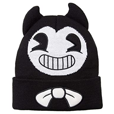 7bd08e496d4 Amazon.com  Bendy and the Ink Machine Beanie - Black and White Bendy ...