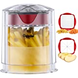 Geedel French Fry Cutter Apple Cutter, Easy to Clean Potato Cutter, Ultra Blades Dishwasher Safe Fry Cutter Apple Slicer Core