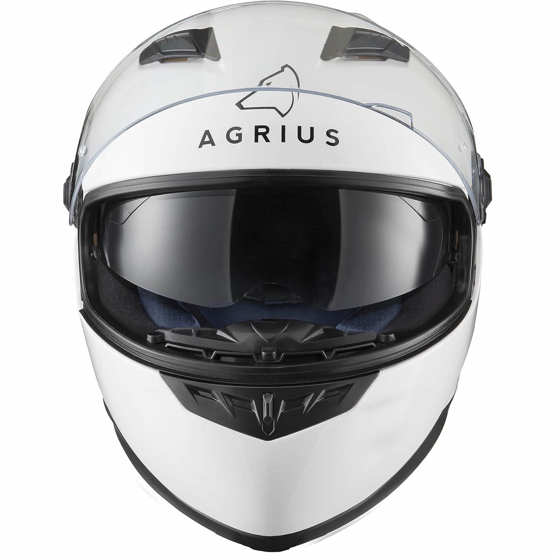 Agrius Rage SV Casco s/ólido para Motocicleta L Blanco Brillante